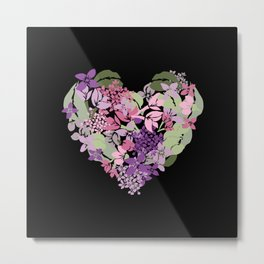 Lilac Heart Metal Print