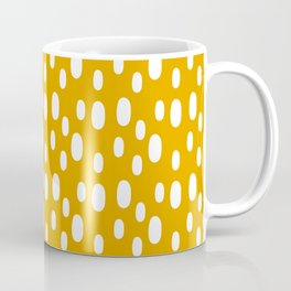 Yellow pattern with white spots Coffee Mug