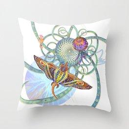 Sting Ray Mount Throw Pillow