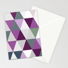 Big triangles lilac Stationery Cards