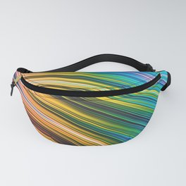 Stranded Strain III.2 Colorful Abstract Strands Fanny Pack