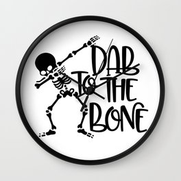 Dab To The Bone Wall Clock