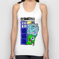 monsters inc Tank Tops featuring Monsters in Time and Space! Doctor Who Meets Monsters Inc. University by beetoons