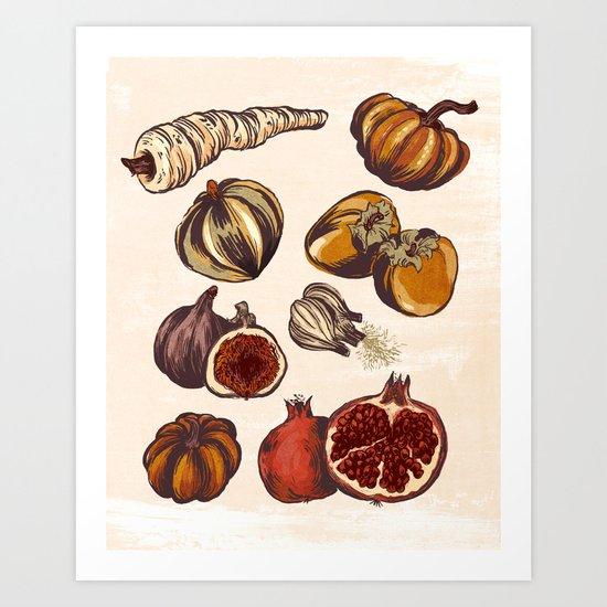 Fall Produce Art Print