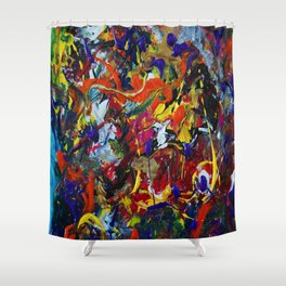 Abstract Experiment Shower Curtain