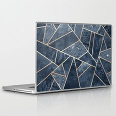 Soft Dark Blue Stone Laptop & iPad Skin
