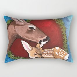 Mama Baby Deer Love Rectangular Pillow