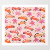 volkswagen Art Prints featuring Volkswagen by Abby Galloway
