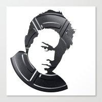 leonardo dicaprio Canvas Prints featuring Leonardo DiCaprio by Alejandro de Antonio Fernández
