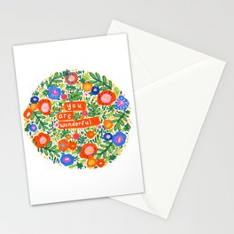 You Are Wonderful Stationery Cards