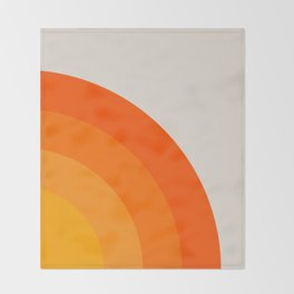 Sunrise Rainbow - Right Side Throw Blanket