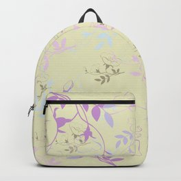 Flowers on Vine - Yellow Backpack
