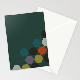 cluster || green night Stationery Cards