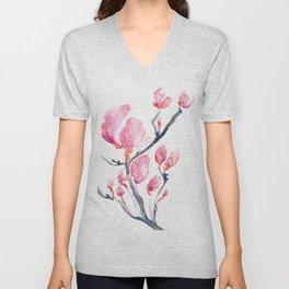 Japanese Magnolia Unisex V-Neck