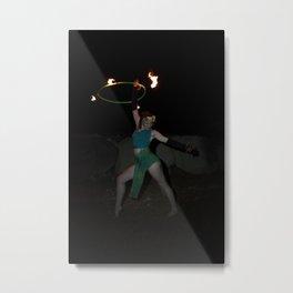 Halo of Fire - Fire Hoop Performance Metal Print