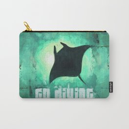 Go Diving! - Manta Ray Carry-All Pouch
