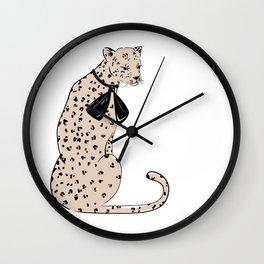 Leopard Chic Wall Clock