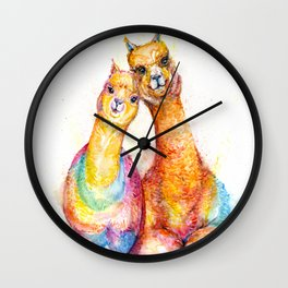 Packa'Alpaca Wall Clock