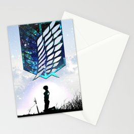 Anime Art - Under the Wings of Freedom Stationery Cards