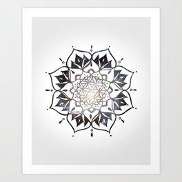 Namaste Nebula Mandala Design Art Print