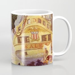 """""""Pirate Ships in Harbor""""by Frank Earle Schoonover Coffee Mug"""