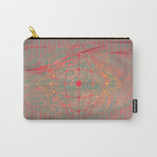 Hot pink grey purple fuchsia abstract fantasy  Carry-All Pouch