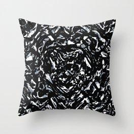 Dark Abstract Print Throw Pillow