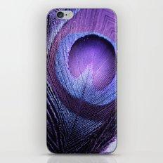 PURPLE PEACOCK iPhone & iPod Skin