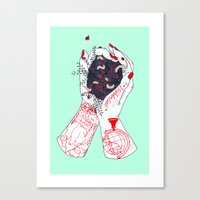 wanderlust Canvas Prints featuring Wanderlust by scoobtoobins