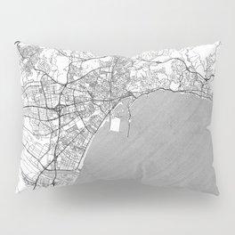 Malaga Map Line Pillow Sham