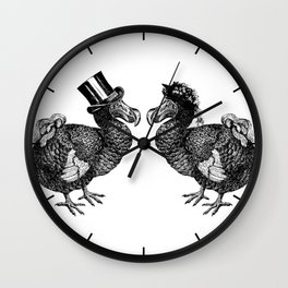 Mr and Mrs Dodo | Black and White Wall Clock