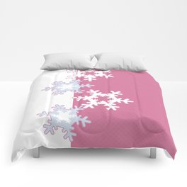 New year , snowflakes Comforters