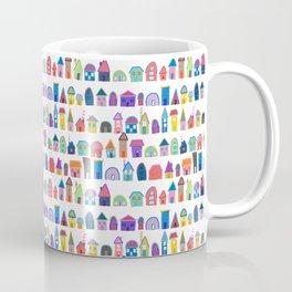 Colorful Neighbors Illustration (White) Coffee Mug