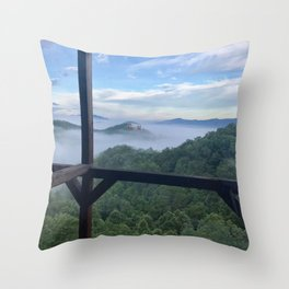 """Smokey Mountain View"" Photography by Willowcatdesigns Throw Pillow"