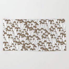 Beech Mushrooms Beach Towel