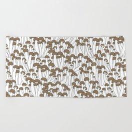Beech Mushrooms Beach Towel