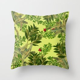 Leaves in Summer Throw Pillow