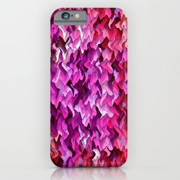 Pretty in wavy Pink..... iPhone Case