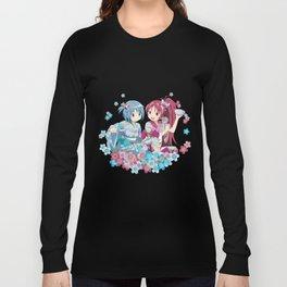 Sayaka Miki & Kyoko Sakura - Love Yukata edit. Long Sleeve T-shirt