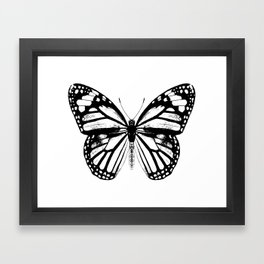 Monarch Butterfly | Vintage Butterfly | Black and White | Framed Art Print