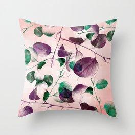 Spiral Eucalyptus Leaves Throw Pillow