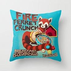 Fire Ferret Crunch Throw Pillow