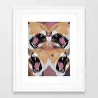 simba Framed Art Prints featuring Young Simba by Original Bliss