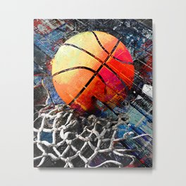 Basketball art print 122 - basketball artwork for bedroom -basketball poster Metal Print