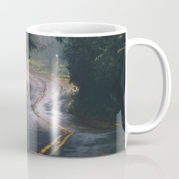 GREY - CONCRETE - ROAD - DAYLIGHT - JUNGLE - NATURE - PHOTOGRAPHY Coffee Mug