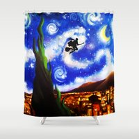 starry night Shower Curtains featuring Starry Night by aleha