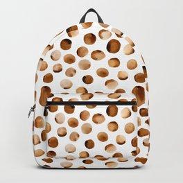 Watercolor Dots // Russet Brown Backpack
