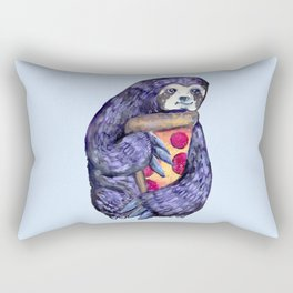 purple sloth loves pizza Rectangular Pillow