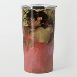 Dancers In Pink 1885 By Edgar Degas | Reproduction | Famous French Painter Travel Mug