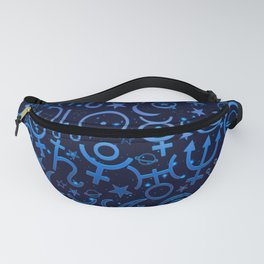 Blue Planetary Pattern Fanny Pack